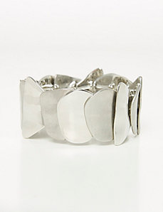 Curved Plating Stretch Bracelet