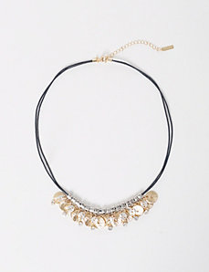 Double Cord Statement Necklace