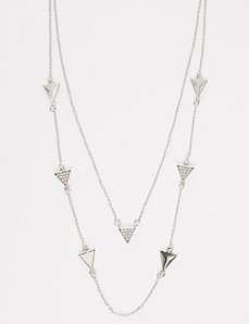 Geo Station Necklace with CZ
