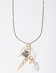 Long Dual Tone Cluster Necklace