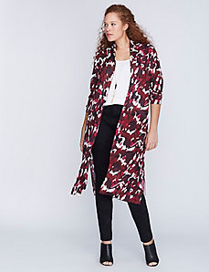 Printed Sheer Duster