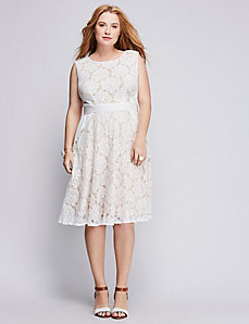 Lace Pintuck Dress by Gabby Skye