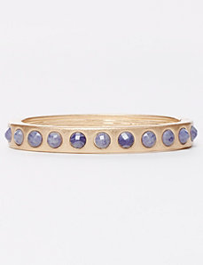 Hinge Bracelet with Navy Stones