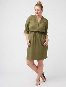 Military-Inspired Shirtdress