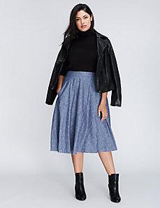 Chambray Circle Skirt