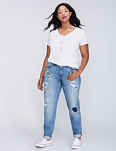 5-Pocket Destructed Boyfriend Jean