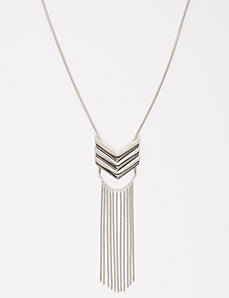 Chevron Tassel Necklace