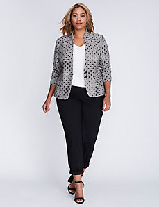 Tailored Stretch Glenplaid Dot Jacket