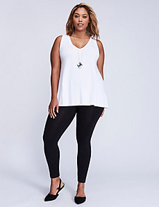 Studded Zip-Back Control Top Leggings
