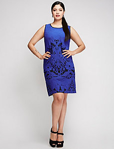 Black & Blue Textured Dress by Julia Jordan