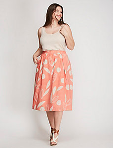 Printed Circle Skirt
