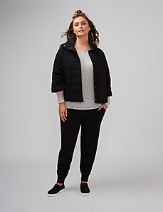 Swing Puffer with 3/4 Sleeves