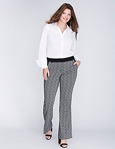 Lena Grid Print Boot Pant