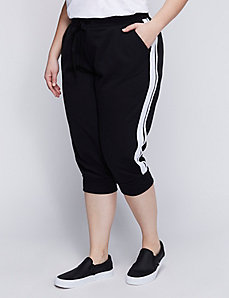 Striped Jogger Capri
