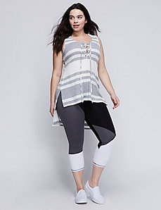 Lace-Up High-Low Tank