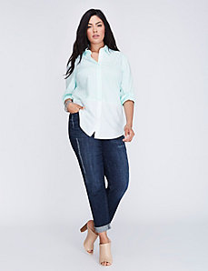 The Mixed Stripe Boyfriend Shirt