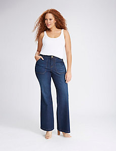 Patch Pocket Flare Jean