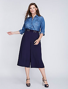 Crepe Belted Culotte