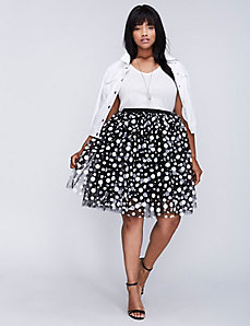 Tulle Dot Skirt