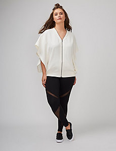 Zip-Up Drama Top