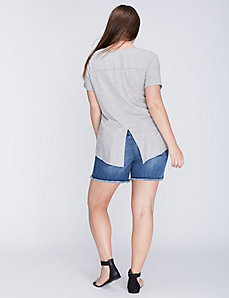 Split-Back V-Neck Tee by C&C California