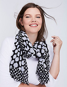 Black & White Dot Crinkle Scarf
