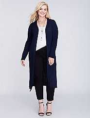 Lurex® Ribbed Duster