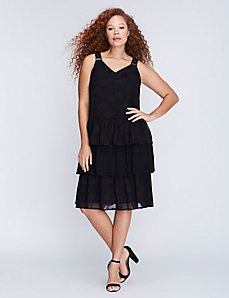 Tiered Ruffle Skirt Dress