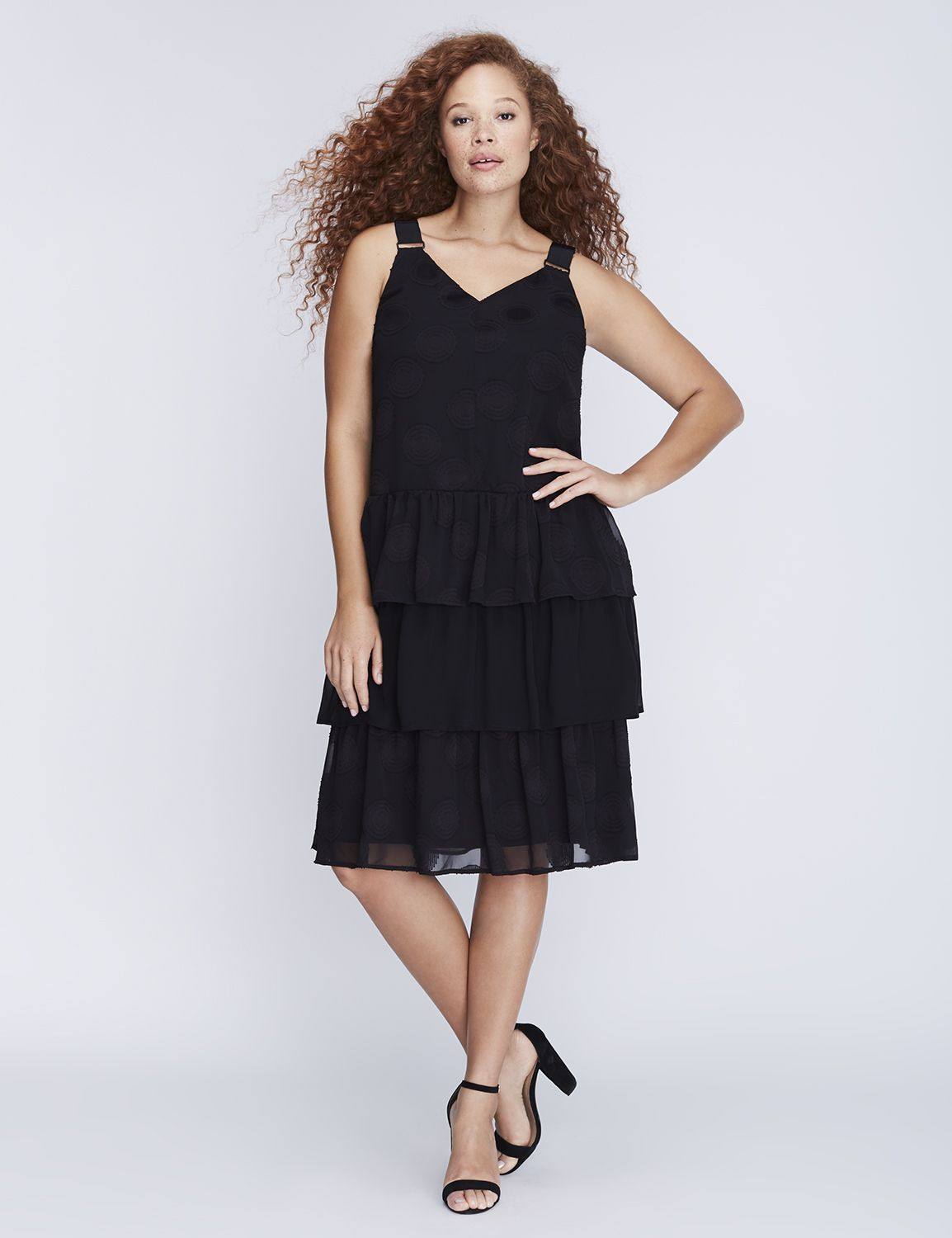Lane bryant long black dress