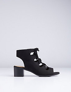 Cutout Block Heel Sandal