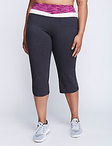 Signature Stretch Yoga Capri with Spacedye Waistband