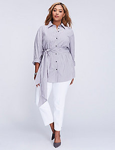 Striped Tie-Waist Tunic