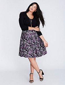 Floral Jacquard Circle Skirt