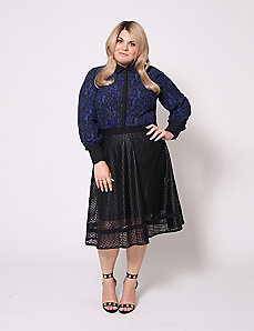 Lace Print Blouse by Christian Siriano