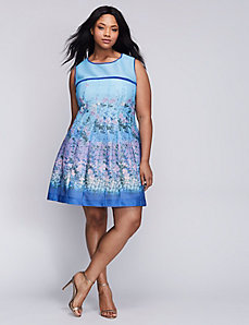 Printed Fit & Flare Dress by Gabby Skye