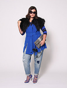 Vest with Fur Collar by Christian Siriano