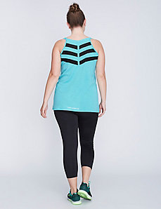 Loose Active Tank with Mesh Insets by Jessica Simpson