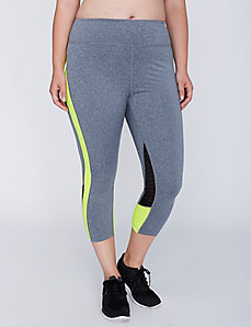 Mesh-Detail Active Capri Legging by Jessica Simpson