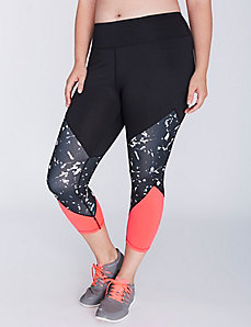 Three-Panel Active Capri Legging by Jessica Simpson