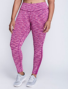 Wicking Spacedye Legging with Mesh