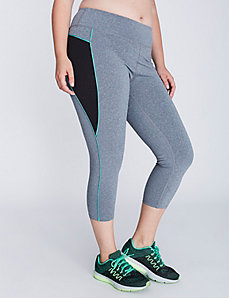 Oval Mesh Active Capri Legging by Jessica Simpson