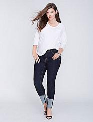 Deep Cuff Skinny Jean