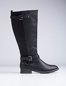 Buckle Harness Riding Boot