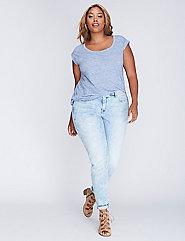Marbled Skinny Jean