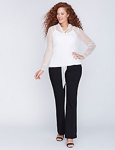 Point D'Esprit Tie-Neck Top