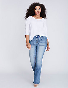Patch Pocket Boot jean