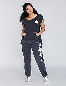 Sweatpant with Star Graphic by C&C California