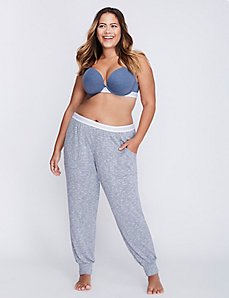 Marled Lounge Pant with Striped  Waistband