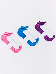Marled with a Pop Sports Sock 3-Pack