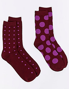 Polka Dot Crew Socks 2-Pack